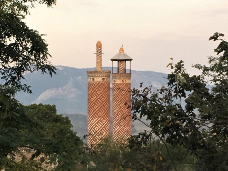 Abandoned mosque minaret in Shushi