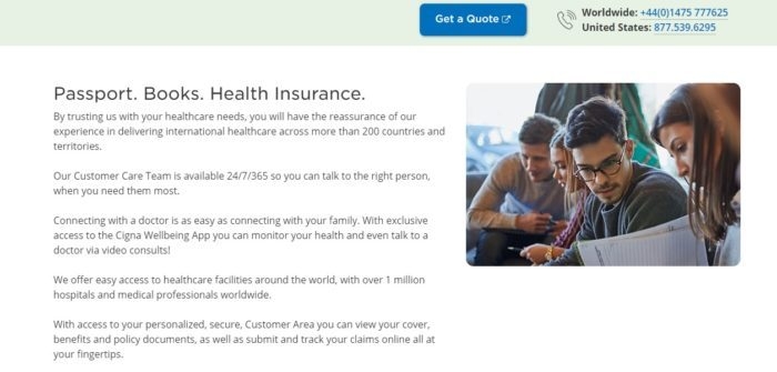 cigna health insurance student