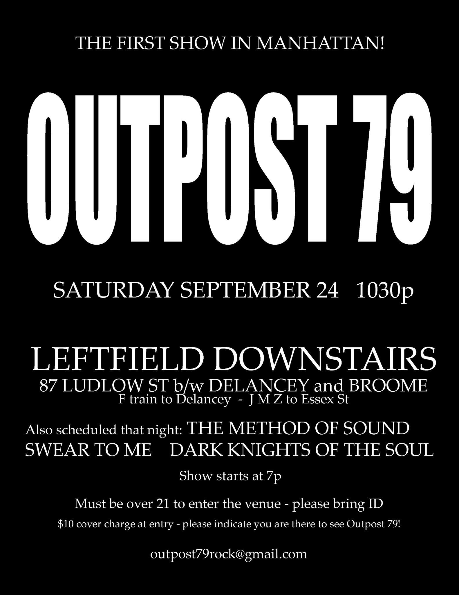 Leftfield Downstairs - First Show in Manhattan