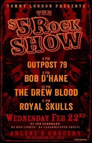 Tommy London $5 Rock Show
