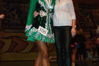 Aine Edwards at the Irish Dancing World Championships
