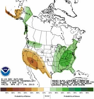 6-10 day precipitation forecast