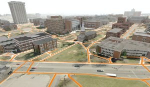 Campus pedestrian network