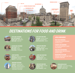 Sample of custom guide for Lexington destinations