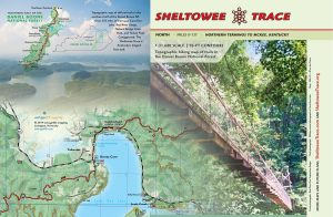 Cover wrap of our new Sheltowee Trace Map