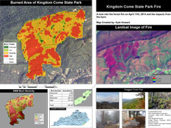 April, 2014 Kingdom Come State Park Wildfire Analysis, by Kyle Howard