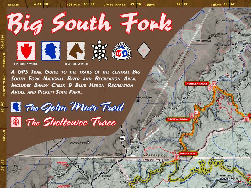 Big South Fork and John Muir Trail Map