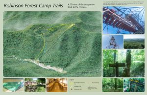 Robinson Forest Camp trail map