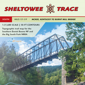 Sheltowee Trace South Trail Map (includes Big South Fork)