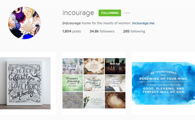 I am loving (in)courage's Instagram feed. I discovered the community a few years ago but have just started following them on Instagram a few weeks ago. The posts seem to have just the right encouragement at just the right time. I hope you find (in)courage as wonderful as I do! Sunday Share with Outrageously Wonderful