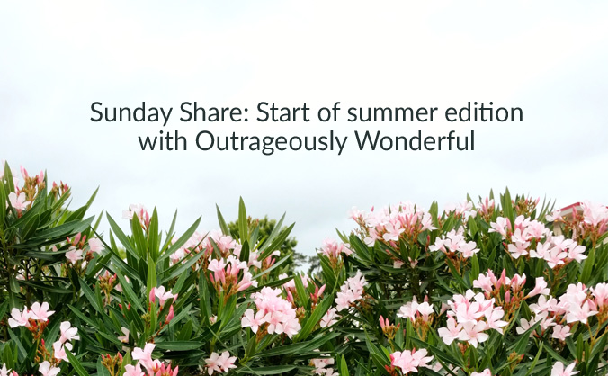 Sunday Share: start of summer edition with Outrageously Wonderful This week's edition includes a delicious summer treat, summer parenting hacks, a new scripture coloring book for the whole family, a great way to connect with your kiddos each day and a fun family activity. I hope you enjoy these posts as much as I did! #summer #parenting #connection #tipsandtricks #summerhacks #friedpickles #coloringbooks #scripturecoloringbook #outrageouslywonderful