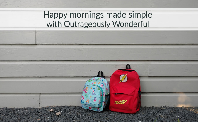 Is getting kids ready for school on time a struggle? Find out how two simple changes to your morning routine can make every morning a happy morning. #morning #routine #kids #happy