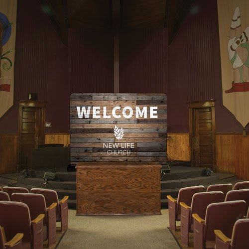 Rustic Charm Welcome Banner Church Banners Outreach Marketing