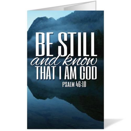 Scenery Scripture Psalm 4610 Bulletin Church Bulletins