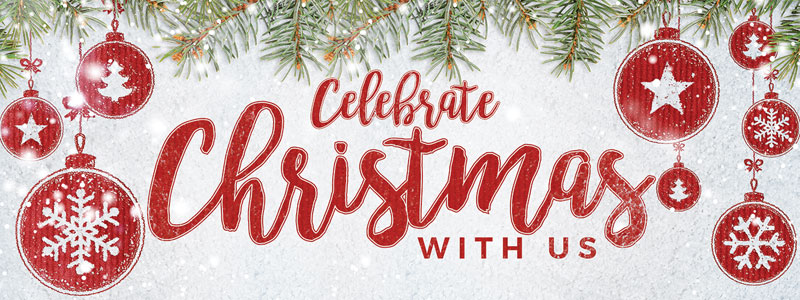 Celebrate Christmas Red Banner Church Banners Outreach