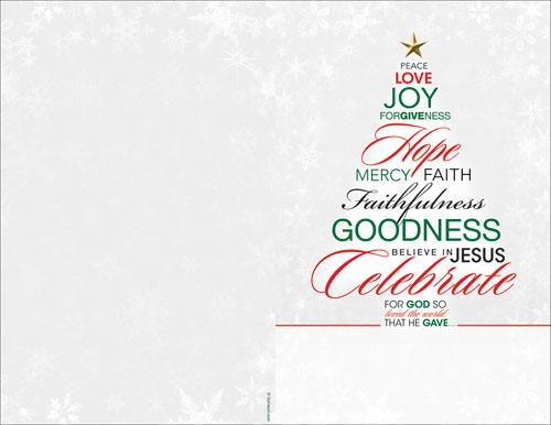 Christmas Word Tree Bulletin Church Bulletins Outreach