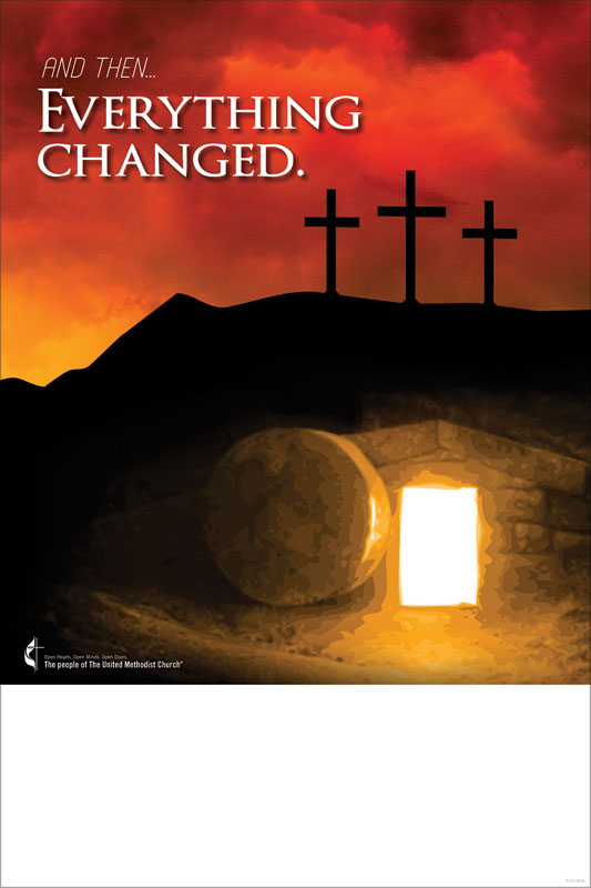 Umc Easter Everything Changed Poster Church Invitations