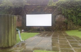 Big outside screen hire