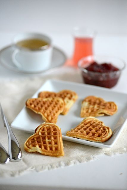 Norwegian Heart Waffles Vertical