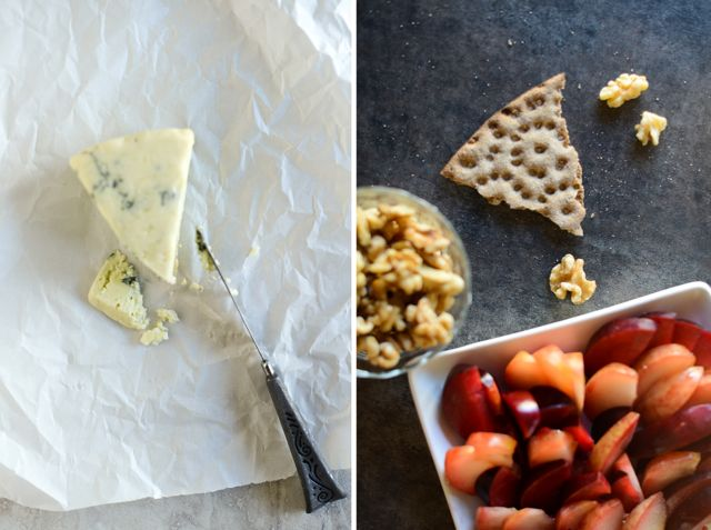 Cheese with Nuts and Plums