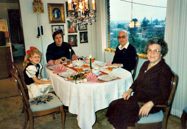Old Family Photo in Grandparents' Dining Room