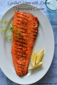 Grilled Salmon with Lemon Horseradish Cream