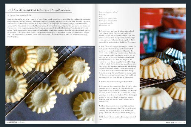 Recipe in Nordic Design Christmas Magazine 2013
