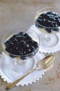 Cardamom Almond Custard with Blueberries