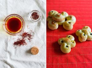 Lucia Buns Diptych with Saffron