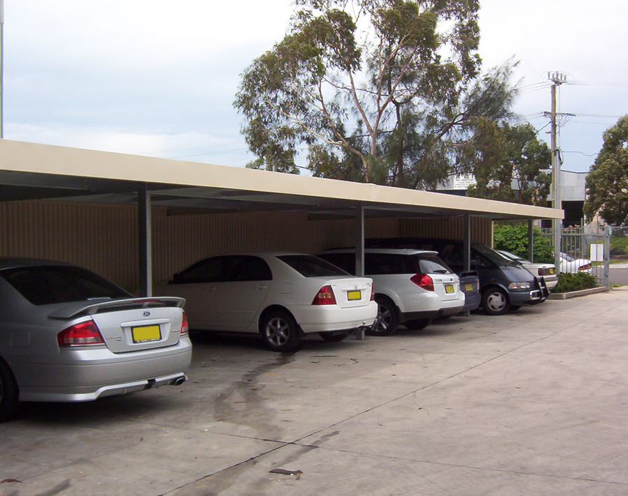 Eight Bay Steel Commercial Carport By Outside Concepts Sydney West