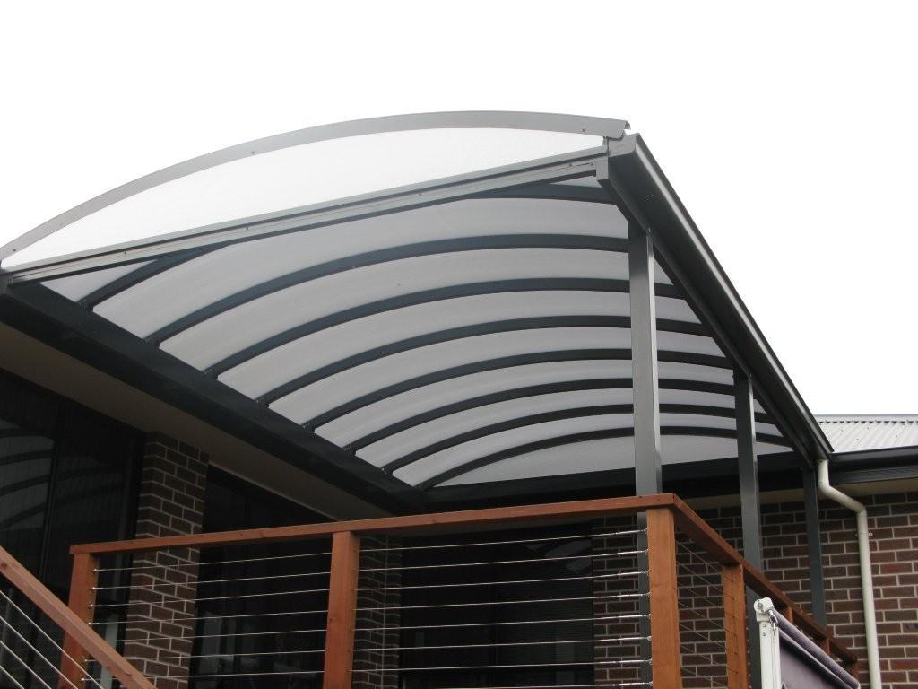 Curved roof over deck by Outside Concepts Launceston, Tasmania - Curved Pergola Roofs - Outside Concepts
