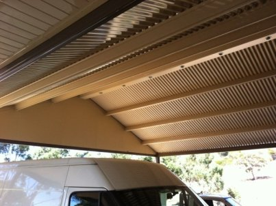 LED downlights in Strathalbyn carport by Outside Concepts Eastern