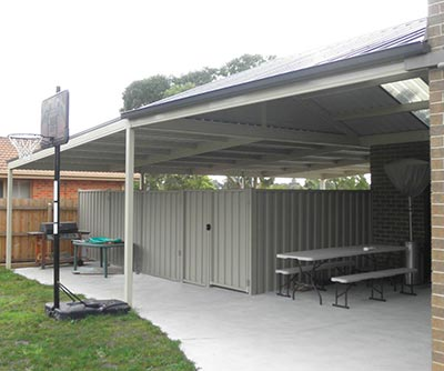Carport and entertainment area by Outside Concepts
