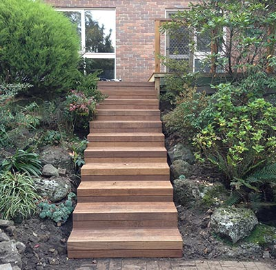 Deck and steps by Outside Concepts