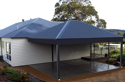 Double carport by Outside Concepts