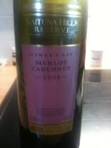The wine choice