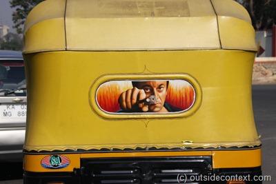 Colourful taxi