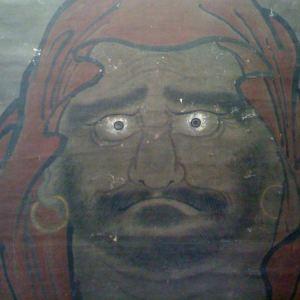 Bodhidharma staring
