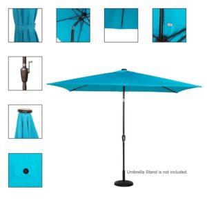 best rectangular patio umbrella with