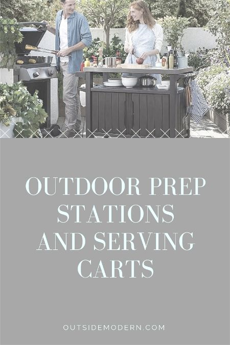 best outdoor prep station and serving