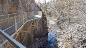 The Catwalk Trail With Whitewater Canyon Below