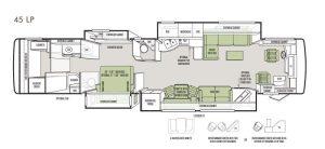 Tiffin 45LP Floor Plan