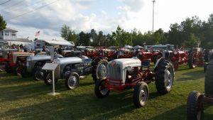 Antique Tractors On Display