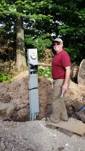 July 2015 - Electric Post Installed