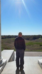 Standing Outside The Marble Structure Looking Over The Battlefield