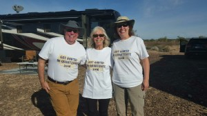 David, Carol and Brenda In Our OOB Fest 2016 T-Shirts
