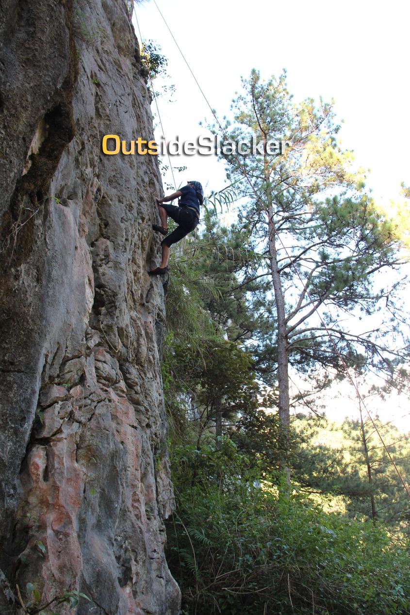 Rock climbing in Sagada