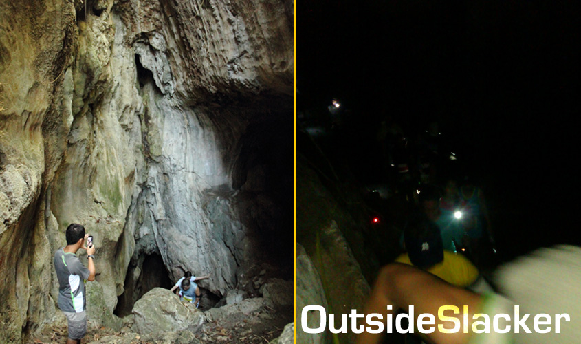 Nature's Trail Discovery Run participants negotiate Tanay's famed Calinawan cave
