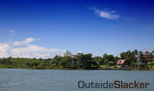 Caliraya Lake on a sunny day.