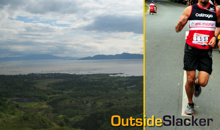 The view from Caliraya. Right photo courtesy of Running Photographers.